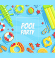 pool party banner template summer party vector image