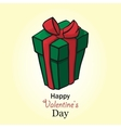 Present for valentine day box handdrow vector image vector image
