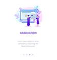 professor gives certificate to alumnus graduation vector image vector image