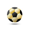 realistic gold a football world cup isolated set vector image