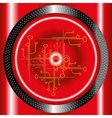 Red technology circle background vector image