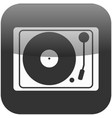 retro dj turntable icon isolated symbol vector image vector image
