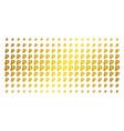rouble golden halftone array vector image vector image