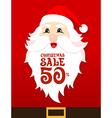 Santa Card Sale vector image vector image
