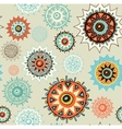 seamless ornament background with colorful circles vector image