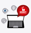 Security system design vector image vector image