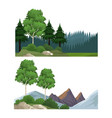 set of nature landscapes vector image vector image