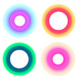 set of round frames made of multicolored blocks vector image