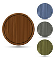 set of round kitchen boards vector image