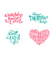 set phrases on happy mothers day vector image vector image