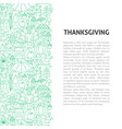 thanksgiving line pattern concept vector image vector image