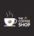 the coffee shop cup of coffee background im vector image vector image