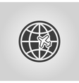The Globe and plane travel icon Shipping symbol vector image