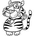 tiger animal character cartoon coloring book vector image vector image