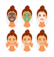 types of face masks vector image vector image