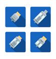 vaporizer atomizers types icons vector image vector image