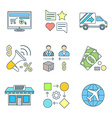 various colored outline business distribution vector image vector image