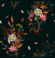 vintage background wallpaper hand drawn blooming vector image