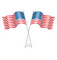 Wavy USA national flags isolated on white vector image vector image
