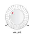 white volume knob vector image