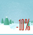 winter sale - beautiful forest winter landscape vector image