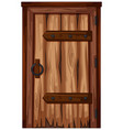 wooden door with bad condition vector image vector image