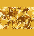 yellow brown ink splashes background vector image vector image