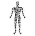 yen man figure vector image vector image