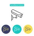 cctv camera icon video surveillance vector image
