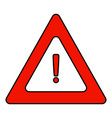 road triangular warning sign a triangle icon with vector image