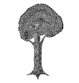 Monochrome abstract tree vector image