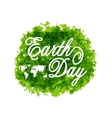 Abstract Background for Earth Day Lettering Green vector image