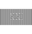 2020 strips black vector image vector image