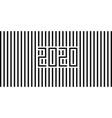 2020 strips black vector image