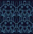 abstract art techno seamless modern tiles pattern vector image vector image