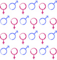 Abstract seamless pattern Male and female symbols vector image