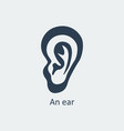 an ear icon vector image
