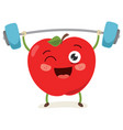 apple weight lifting vector image