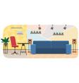 arrangement furniture in workplace of vector image vector image