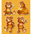 Bear and honey vector image vector image