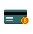 bitcoin transaction card graphic vector image