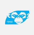blue monkey logo template vector image