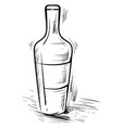 bottle drawing on white background vector image