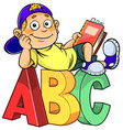 boy with abc vector image vector image