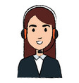 call center agent avatar character vector image vector image