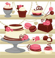 candy and dessert cake or ice cream cookie vector image vector image