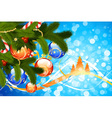 christmas card with fir-tree vector image vector image