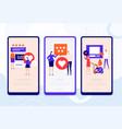 customer feedback - set web pages vector image
