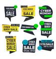 cyber monday sale banner set november sale vector image