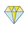 diamond gem and crysral accesory vector image vector image